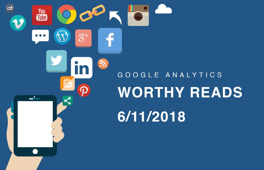 Worthy reads on social media in Google Analytics